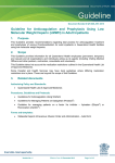 Guideline for Anticoagulation and Prophylaxis Using Low Molecular
