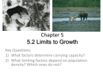 Chapter 5 5.2 Limits to Growth