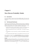 Chapter 8 More Discrete Probability Models