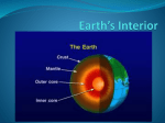 Earth*s Interior - Mr. Cramer