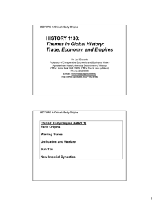 Themes in Global History: Trade, Economy, and Empires