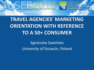 travel agencies` marketing orientation with reference