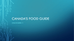Canada`s food guide