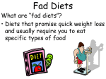 Diets and Disorders Diets and Eating Disorders powerpoint