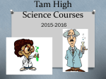 Honors Integrated Science 3-4 - Tamalpais Union High School District