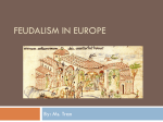 Lecture Presentation - Living in Medieval Europe