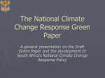 The National Climate Change Response Green Paper