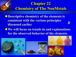 Chapter 21 Chemistry of the Main