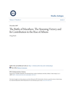 The Battle of Marathon: The Stunning Victory