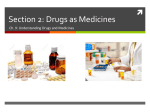 Section 2: Drugs as Medicines
