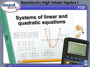 Systems of linear and quadratic equations