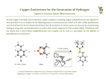 Copper Zwitterions for the Generation of Hydrogen Stephen A