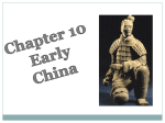 Chapter 10 Early China