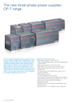The new three-phase power supplies CP