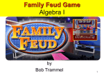 Family Feud Game Algebra I