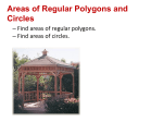 Areas of Regular Polygons and Circles