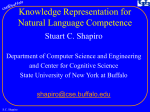 KR for Natural Language Competence