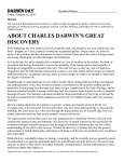 About Charles Darwin`s Great Discovery