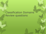 Classification Domains Review questions