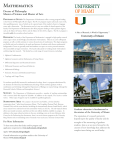 Mathematics - Department of Mathematics. University of Miami