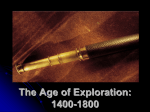 The Age of Exploration - West Point Public Schools