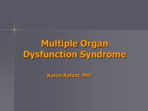 Multiple Organ Dysfunction Syndrome