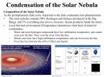 Condensation of the Solar Nebula