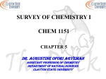 Chemical Reactions - Clayton State University