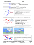 Weather Fronts Lesson Notes