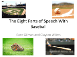 The Eight Parts of Speech with Baseball