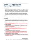 History of Civil Engineering and Architecture