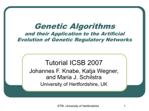 Genetic Algorithms and their Application to the Artificial Evol