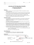 Lab #5 Operational Amplifier