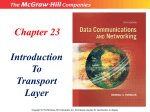 Introduction to Transport Layer