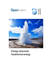 Energy resources: Geothermal energy