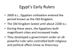 Egypt`s Early Rulers - Mater Academy Lakes High School