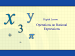 Operations on Rational Expressions