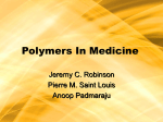 Polymers In Medicine - University at Buffalo