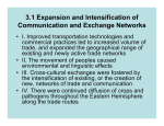 3.1 Expansion and Intensification of Communication and Exchange