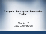 Computer Security and Penetration Testing Chapter 17 Linux