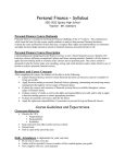 Personal Finance – Syllabus