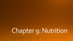 What is a Nutrient?