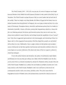 My Final Paper. - An Analysis of King Saladin and King Richard