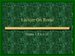 Lecture On Rome - Jefferson School District