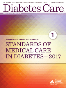ADA: Standards of Medical Care in Diabetes 2017