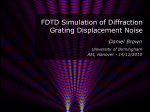 Numerical simulation of diffraction grating alignment and phase noise