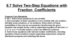 8.7 Solve Two-Step Equations with Fraction Coefficients