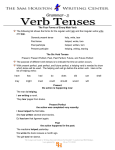 The Four Forms of Every Main Verb The following list shows the