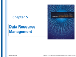 I. Data Resource Management