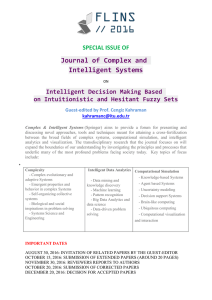 Journal of Complex and Intelligent Systems